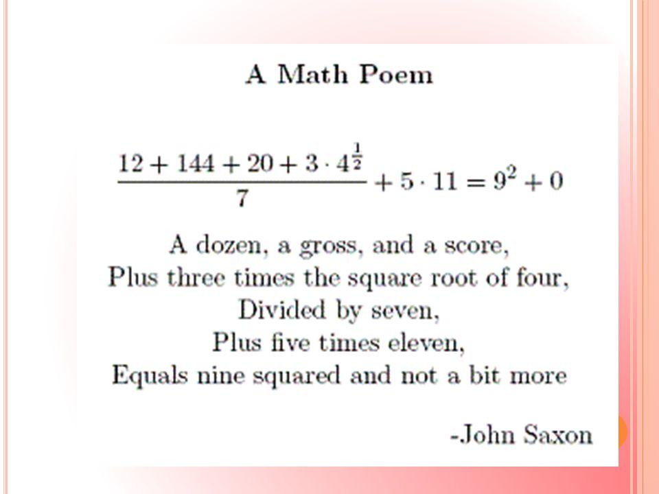 Στα κλασικά μαθηματικά δομικά στοιχεία είναι οι αριθμοί, τα σχήματα, οι ιδέες.