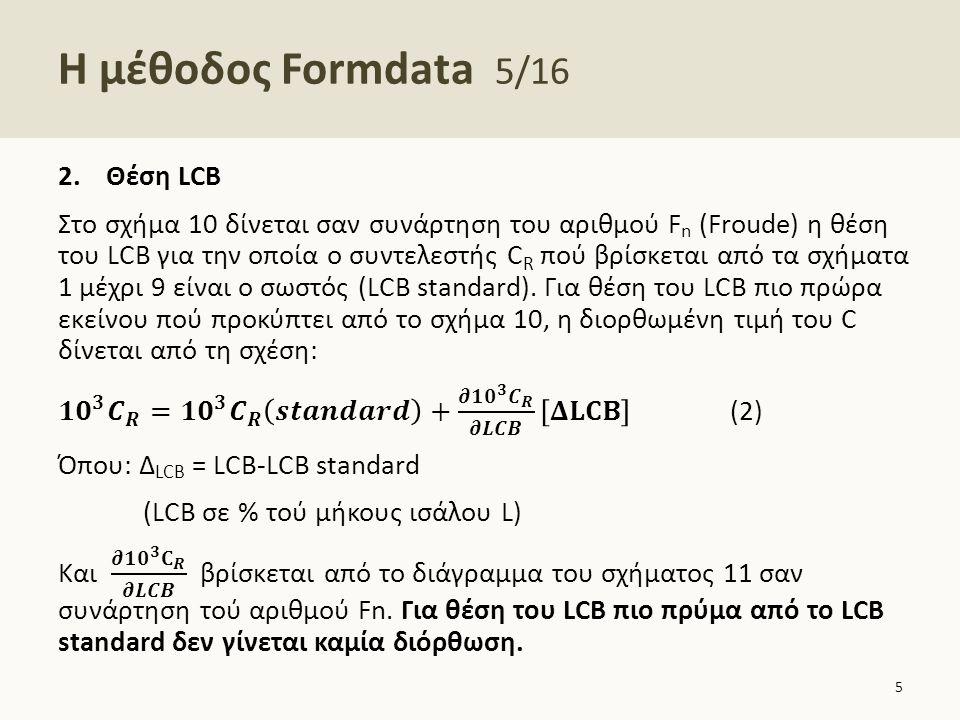 Η μέθοδος Formdata 6/16 6 Υπερβολικά U Υπερβολικά V Πρωραίο τμήμα -0,1 +0,1 Πρυμναίο τμήμα +0,1-0,1