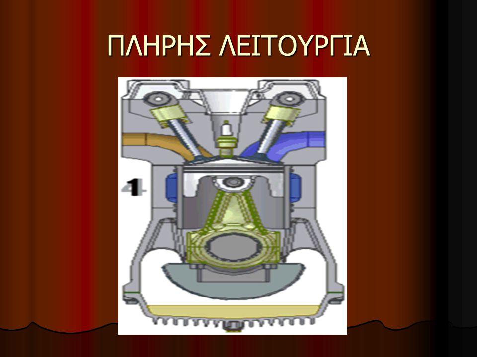 Παρατηρούμε ότι:  Καθ ένα από τα τέσσερα στάδια του κύκλου γίνεται στη διάρκεια μιας διαδρομής του εμβόλου, είτε ανερχόμενη, είτε κατερχόμενη.