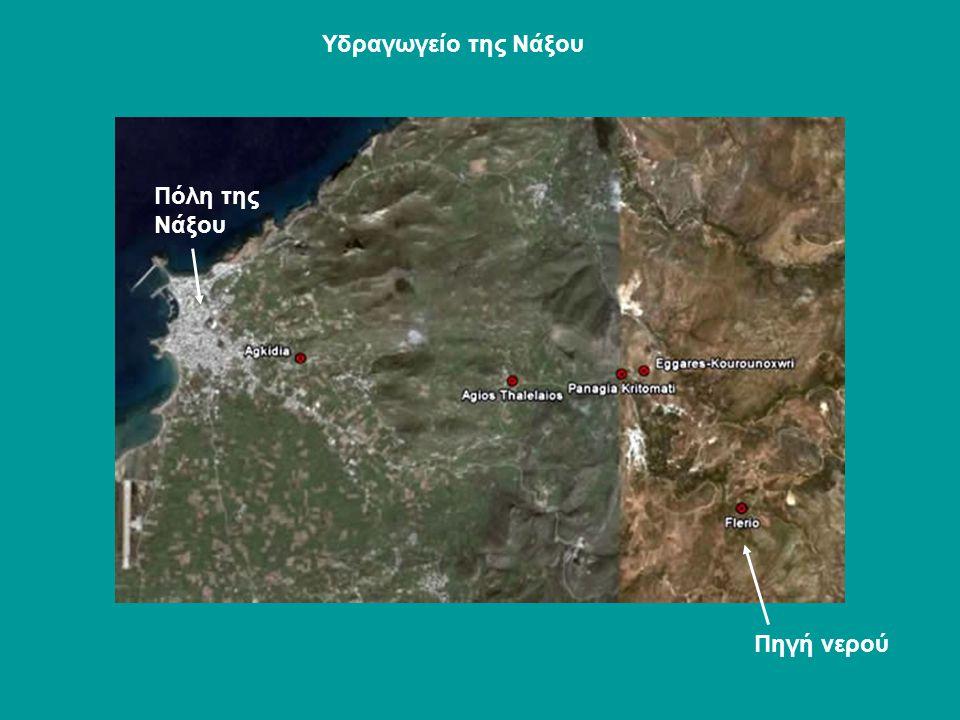 Πηγή νερού Πόλη της Νάξου Υδραγωγείο της Νάξου