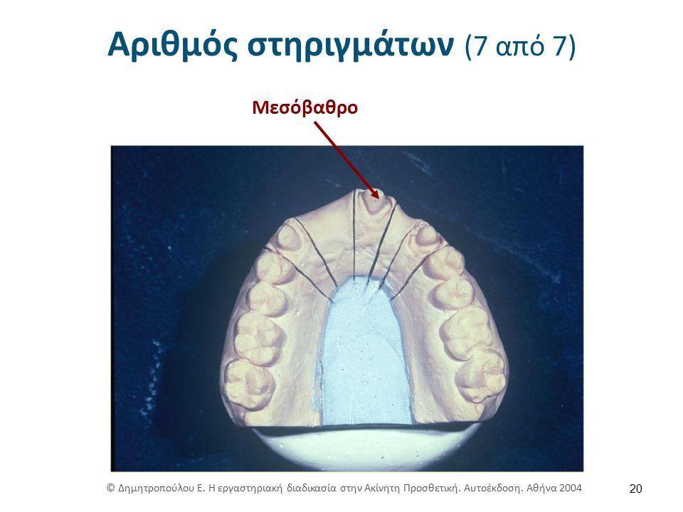 Αριθμός στηριγμάτων (7 από 7) 20 Μεσόβαθρο © Δημητροπούλου Ε.