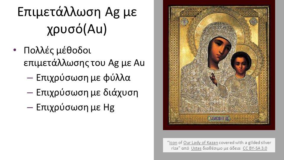"""Επιμετάλλωση Ag με χρυσό(Au) Πολλές μέθοδοι επιμετάλλωσης του Ag με Au – Επιχρύσωση με φύλλα – Επιχρύσωση με διάχυση – Επιχρύσωση με Hg """"Icon of Our L"""