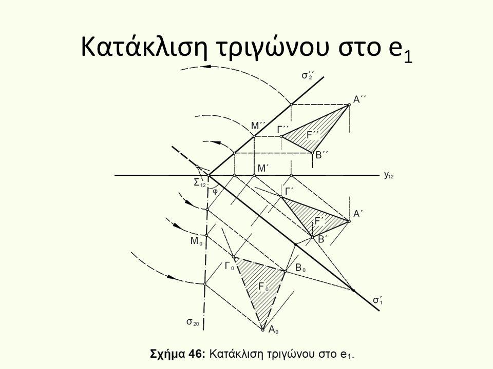 Κατάκλιση τριγώνου στο e 1