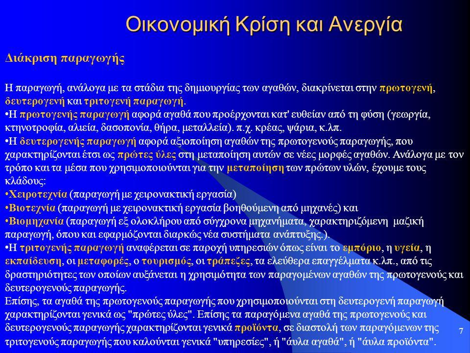 28 Οικονομική Κρίση και Ανεργία Χαρακτηριστικά του Ελληνικού Χρέους Ποιοι Κατέχουν Ελληνικά Ομόλογα Έλληνες: 49 % Ξένοι: 51 % Κατανομή του Χρέους Ομόλογα Κυμαινόμενου Επιτοκίου: 176,9 δις Ευρώ Έντοκα Γραμμάτια 140,4 δις.