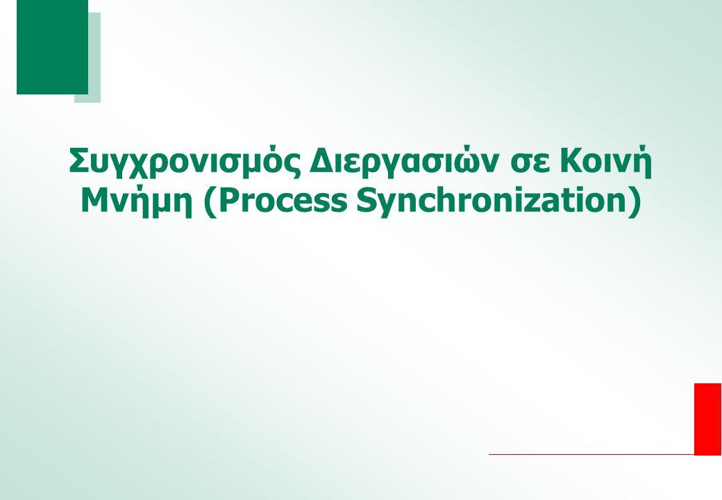 Συγχρονισμός Διεργασιών σε Κοινή Μνήμη (Process Synchronization)