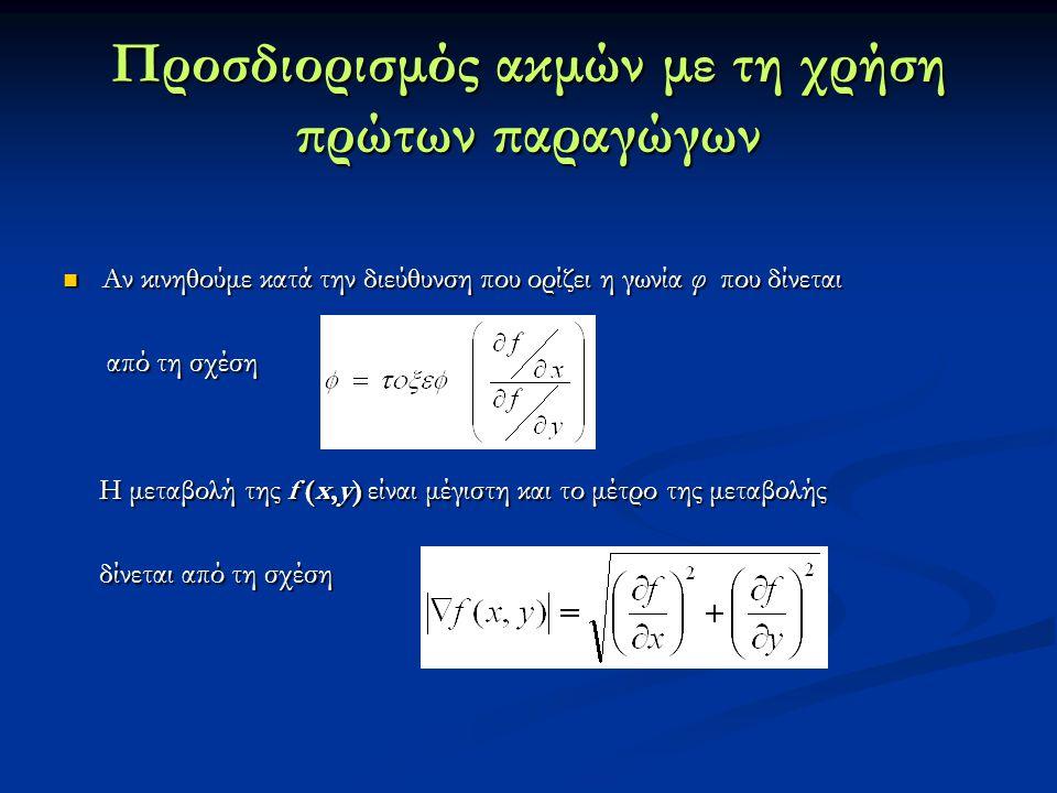 Αν κινηθούμε κατά την διεύθυνση που ορίζει η γωνία φ που δίνεται Αν κινηθούμε κατά την διεύθυνση που ορίζει η γωνία φ που δίνεται από τη σχέση από τη