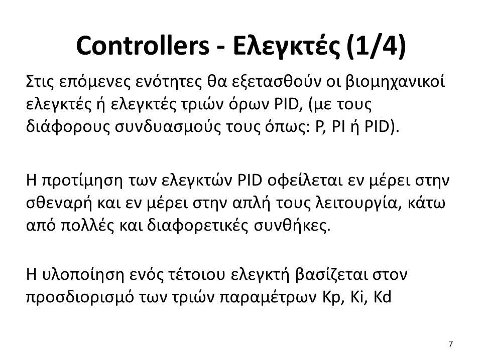 Η ΣΜ του συστήματος κλειστού βρόγχου είναι: 28 PID Controller (1/2)