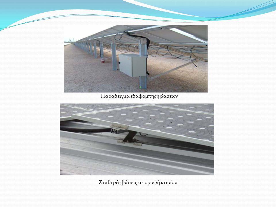 Παράδειγμα εδαφόμπηξη βάσεων Σταθερές βάσεις σε οροφή κτιρίου