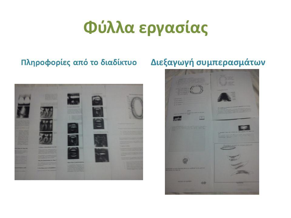 Φύλλα εργασίας Πληροφορίες από το διαδίκτυο Διεξαγωγή συμπερασμάτων