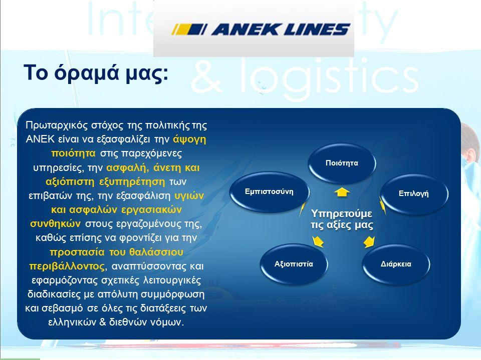 Η ANEK LINES ηγείται κοινοπραξίας Ελλήνων και Ιταλών εταίρων στην οποία απονεμήθηκε το έργο SYNTHESIS μετά την πρόσκληση υποβολής προτάσεων Marco Polo II της Ευρωπαϊκής Επιτροπής για το 2010.