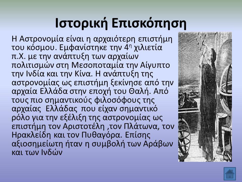 Θεωρίες Αρχαίων Ελλήνων για το Σύμπαν Οι θεωρίες που διατυπώθηκαν από τους αρχαίους Έλληνες για το Σύμπαν ήταν δύο: Η ηλιοκεντρική όπου σύμφωνα με τον Αρίσταρχο που θεωρούσε ότι ο Ήλιος είναι το κέντρο του Σύμπαντος.
