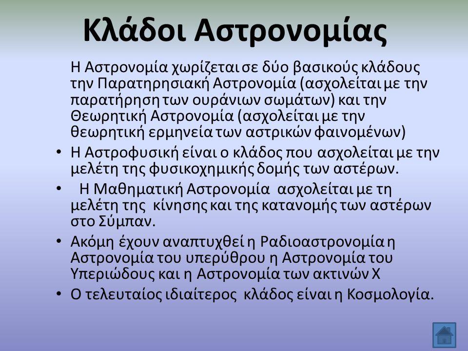 Σημαντικοί Αστρονόμοι Αρίσταρχος ο Σάμιος Κοπέρνικος Γαλιλαίος Κέπλερ