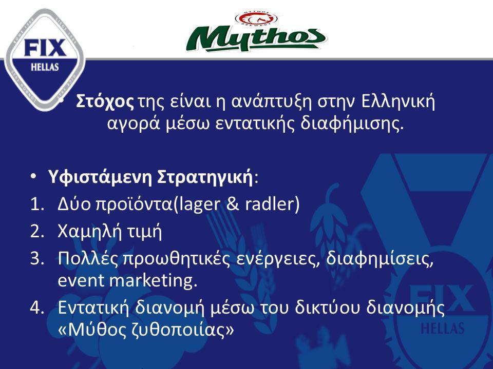 Στόχος της είναι η ανάπτυξη στην Ελληνική αγορά μέσω εντατικής διαφήμισης.