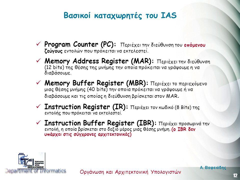 12 Οργάνωση και Αρχιτεκτονική Υπολογιστών A.