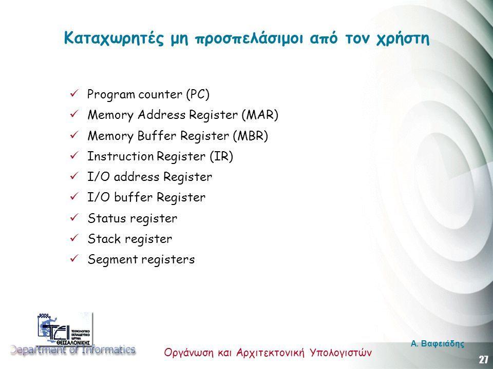 27 Οργάνωση και Αρχιτεκτονική Υπολογιστών A.