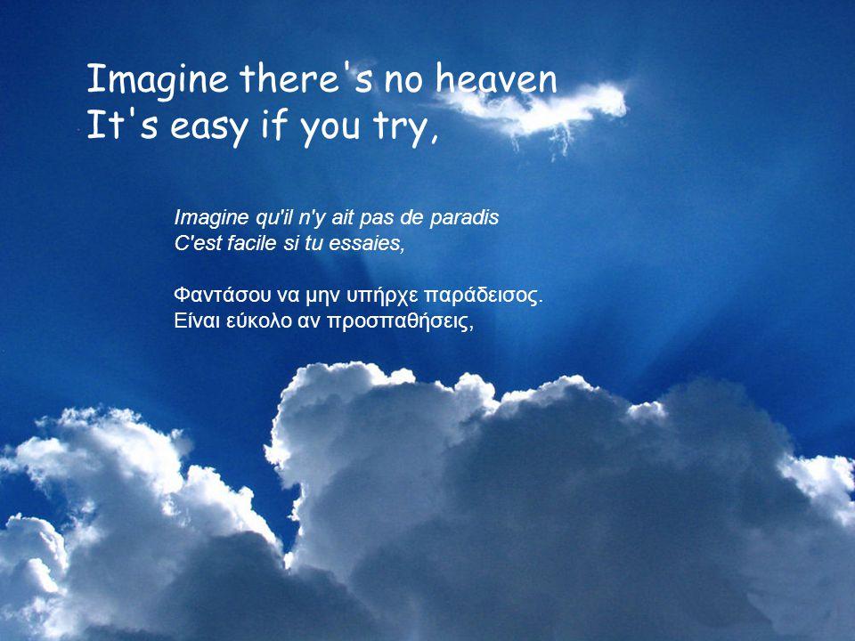 IMAGINE Φαντάσου John LENNON Του Τζων Λένον (Για να υπάρχει αντιστοιχία στίχων και μελωδίας, άφησε τις σελίδες να γυρίζουν χωρίς να παρεμβαίνεις) Pour