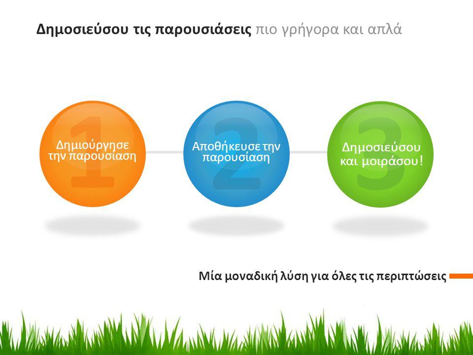 » Με απλό τρόπο αποθήκευσε και δημοσιεύσου την παρουσίαση στην ιστοσελίδα SlidePlayer.gr » Δώσε τον σύνδεσμο της ιστοσελίδας με την παρουσίαση ή απλά πρόσθεσε Player με την παρουσίαση στη διαφάνεια σου ή στη σελίδα σου της κοινωνικής δικτύωσης.