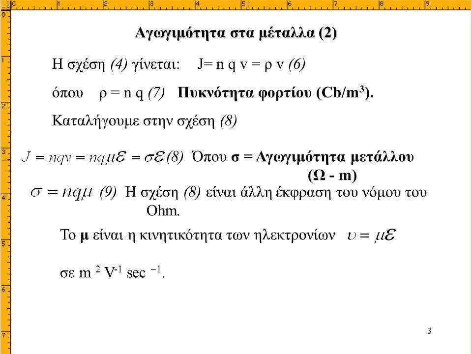 34 N A >>N D οπότε W p <<W n = W Με ολοκλήρωση dV/dx = 0 για x = W n = W V = 0 για x = 0 Για x = W V = V j Όπου: Χωρητικότητα φορτίου χώρου ή μεταβάσεως, φράγματος ή περιοχής αραιώσεως C T (2)