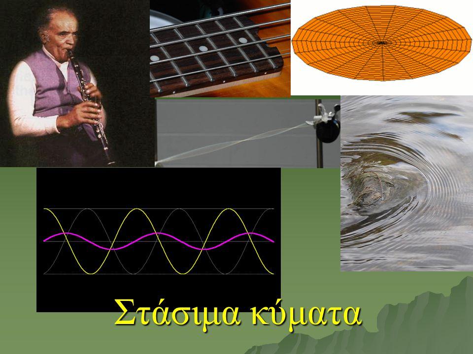 Η εξίσωση του στάσιμου κύματος παίρνει τη μορφή: όπου είναι το πλάτος του στάσιμου κύματος Εξίσωση του στάσιμου κύματος Η εξίσωση του στάσιμου κύματος είναι η εξίσωση της απλής αρμονικής ταλάντωσης.
