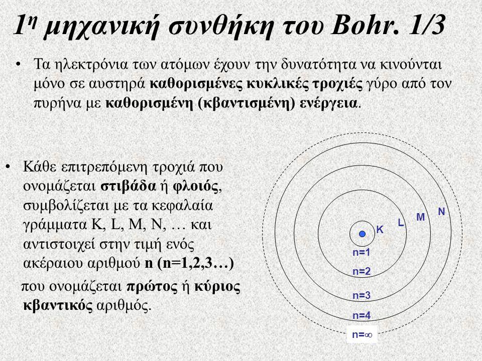1 η μηχανική συνθήκη του Bohr.