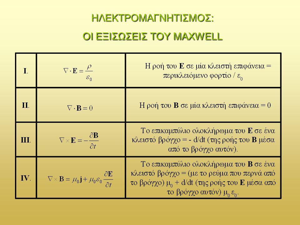 Οι εξισώσεις του Maxwell αποτελούν ένα σύνολο συζευγμένων πρωτοβάθμιων μερικών διαφορικών εξισώσεων ως προς τα πεδία Ε και Β.