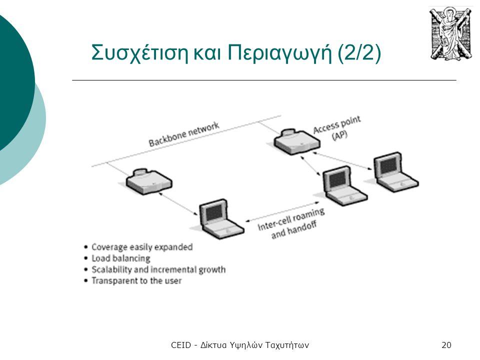 CEID - Δίκτυα Υψηλών Ταχυτήτων20 Συσχέτιση και Περιαγωγή (2/2)