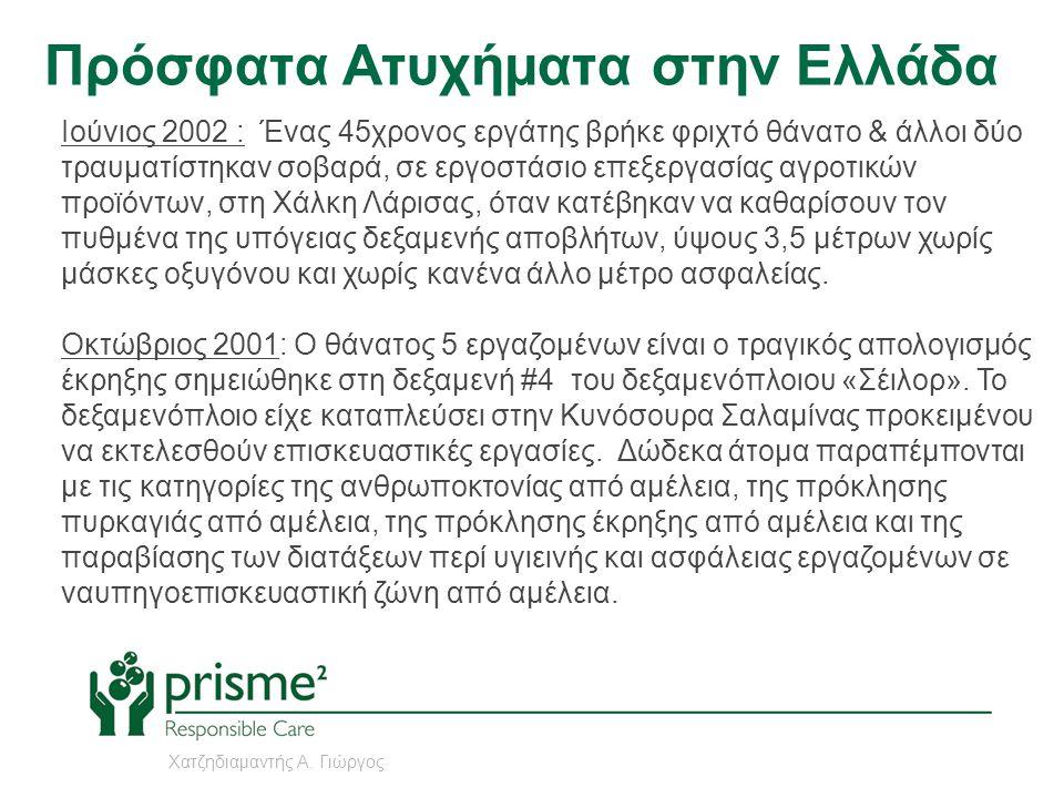 Πρόσφατα Ατυχήματα στην Ελλάδα Ιούνιος 2002 : Ένας 45χρονος εργάτης βρήκε φριχτό θάνατο & άλλοι δύο τραυματίστηκαν σοβαρά, σε εργοστάσιο επεξεργασίας