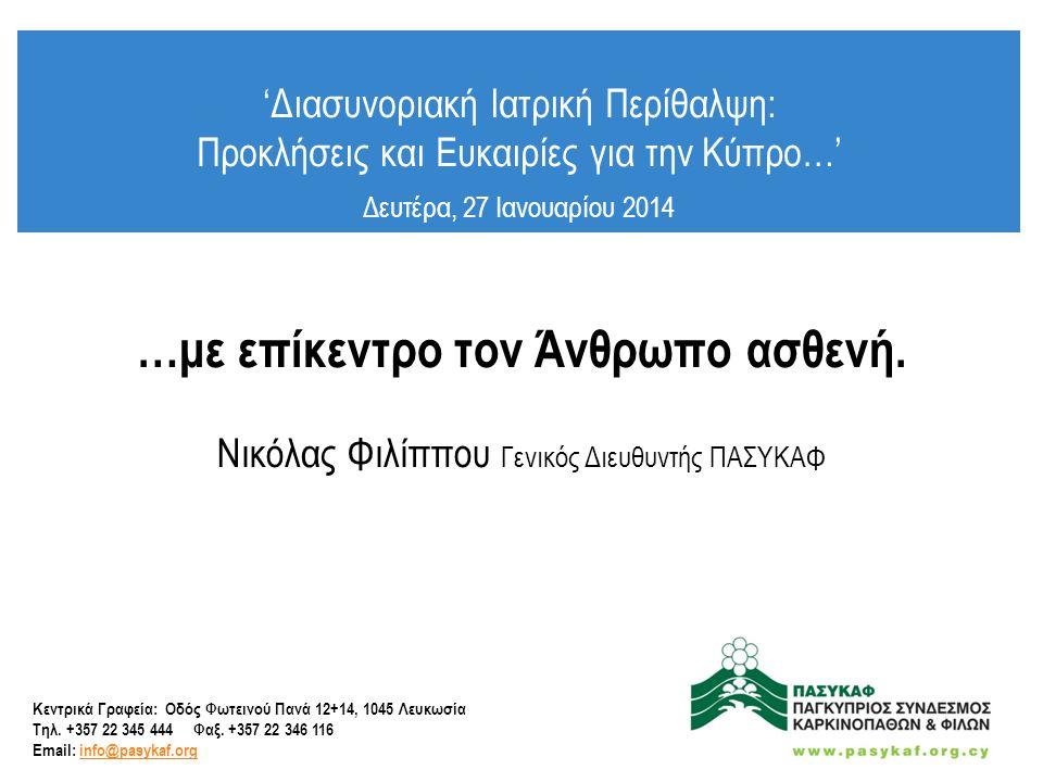 • Κύπρος – Δεδομένα • Ο σκοπός της οδηγίας 2011/24/ΕΕ • Επίκεντρο ο Άνθρωπος Ασθενής • Τι αναμένουμε; • Προκλήσεις • Καταληκτικά Σχόλια Θέματα :.