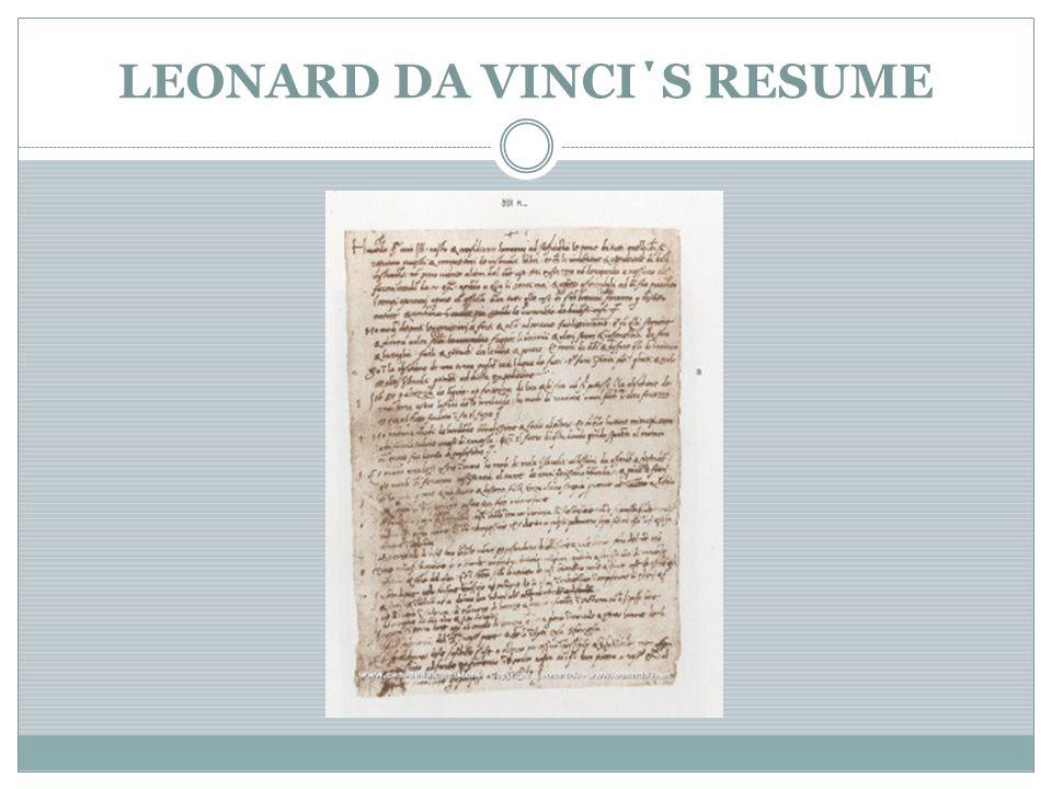 LEONARD DA VINCI΄S RESUME