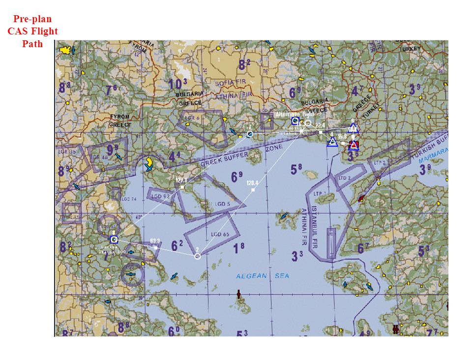 Pre-plan CAS Flight Path