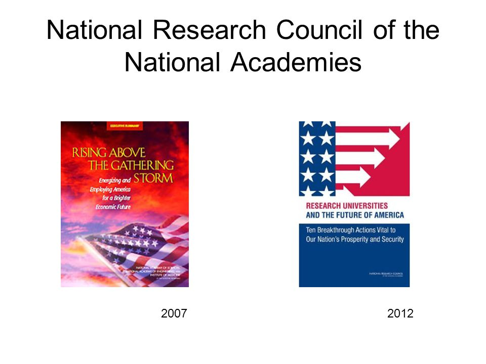 National Research Council of the National Academies 2007 2012