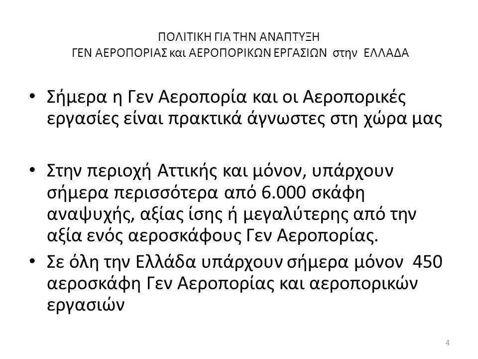 ΠΟΛΙΤΙΚΗ ΓΙΑ ΤΗΝ ΑΝΑΠΤΥΞΗ ΓΕΝ ΑΕΡΟΠΟΡΙΑΣ και ΑΕΡΟΠΟΡΙΚΩΝ ΕΡΓΑΣΙΩΝ στην ΕΛΛΑΔΑ ΠΡΟΟΠΤΙΚΕΣ Η αναμενόμενη έκρηξη δραστηριότητας των Ελληνικών ιδιωτικών Σχολών εκπαίδευσης θα ανεβάσει στα ύψη τους αριθμούς των ωρών πτήσης.