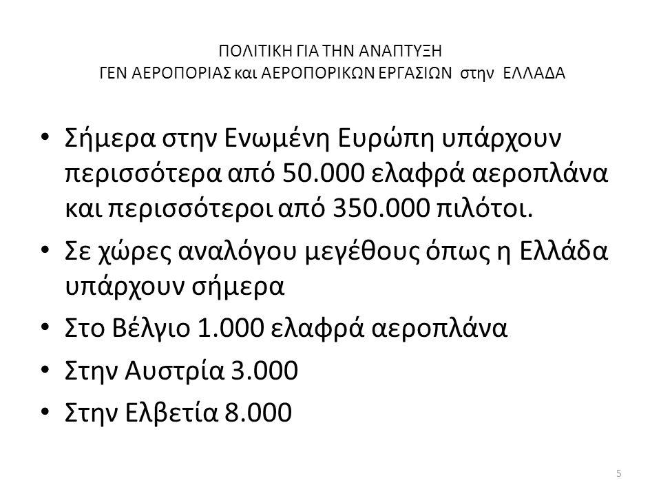 ΠΟΛΙΤΙΚΗ ΓΙΑ ΤΗΝ ΑΝΑΠΤΥΞΗ ΓΕΝ ΑΕΡΟΠΟΡΙΑΣ και ΑΕΡΟΠΟΡΙΚΩΝ ΕΡΓΑΣΙΩΝ στην ΕΛΛΑΔΑ Τι περιμένουμε να συμβεί ΑΥΡΙΟ Τι θα υπάρχει στην Ελλάδα το έτος 2020 ; Όλοι βέβαια έχουμε ακούσει γα το όνειρο του Ενιαίου Ευρωπαϊκού Ουρανού.