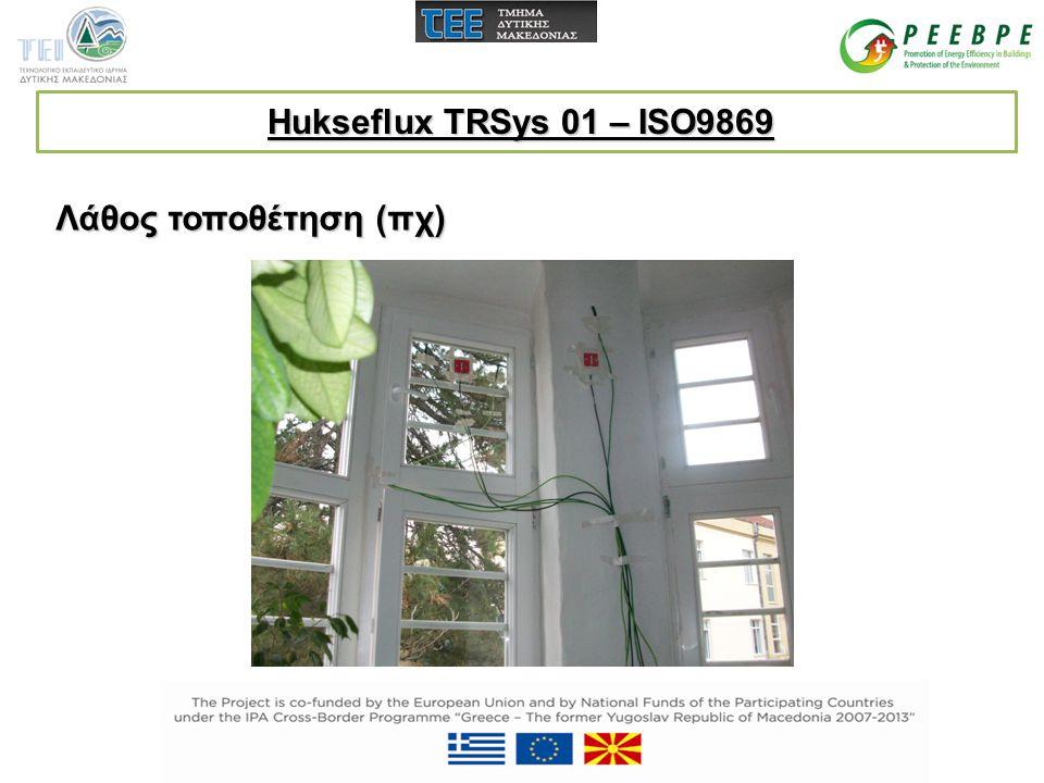 Λάθος τοποθέτηση (πχ) Hukseflux TRSys 01 – ISO9869