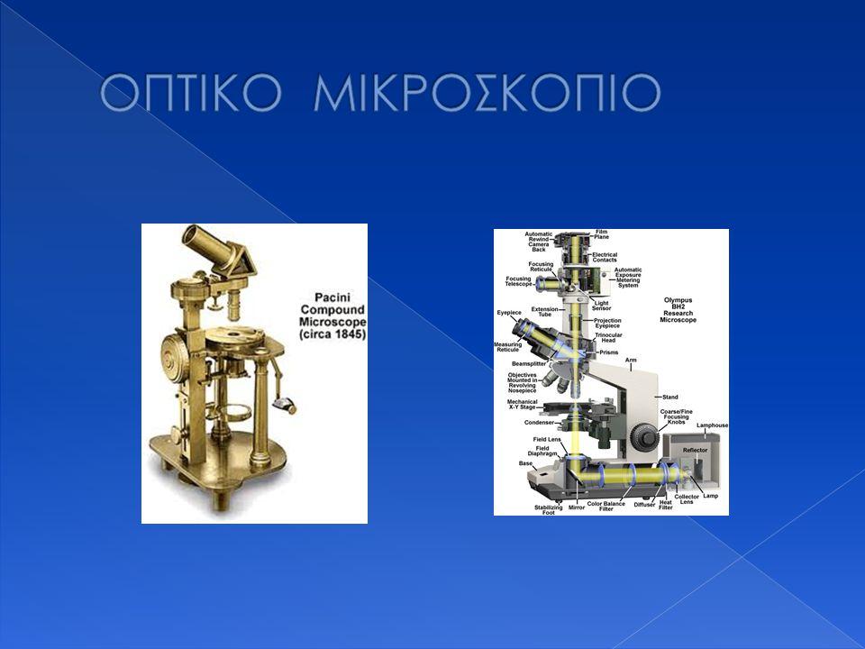  Μονοφθάλμιο οπτικό μικροσκόπιο  Στερεοσκοπικό μικροσκόπιο  Πολωτικό μικροσκόπιο  Μικροσκόπιο αντίθεσης φάσεων  Αντεστραμμένο μικροσκόπιο  Μικροσκόπιο σκοτεινού πεδίου  Μικροσκόπιο φθορισμού  Συνεστιακό μικροσκόπιο