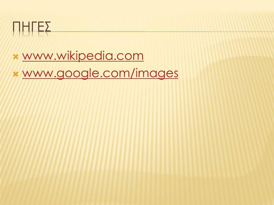  www.wikipedia.com www.wikipedia.com  www.google.com/images www.google.com/images