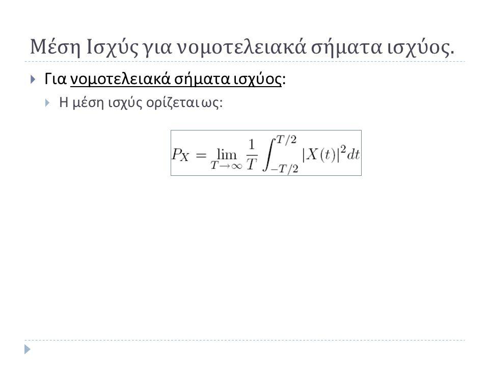 Παράδειγμα (2)  Βρείτε και σχεδιάστε την πυκνότητα φάσματος ισχύος του τυχαίου δυαδικού σήματος που μελετήθηκε σε προηγούμενο παράδειγμα.