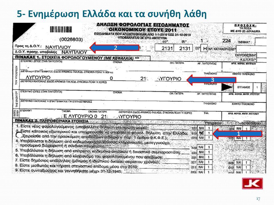 17 3 1 2 5- Ενημέρωση Ελλάδα και τα συνήθη λάθη