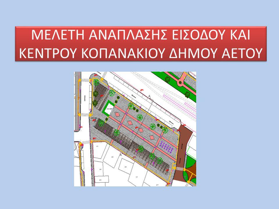  όλο το κεντρικό δίκτυο κίνησης οχημάτων και πεζών • την είσοδο του Κοπανακίου, • την κεντρική οδό σε όλο της το μήκος,  την κεντρική πλατεία,  την παιδική χαρά,  τον κοινόχρηστο χώρο πίσω από τις σιδηροδρομικές γραμμές και  την οδό που συνδέει την κεντρική πλατεία με το Δημαρχείο.