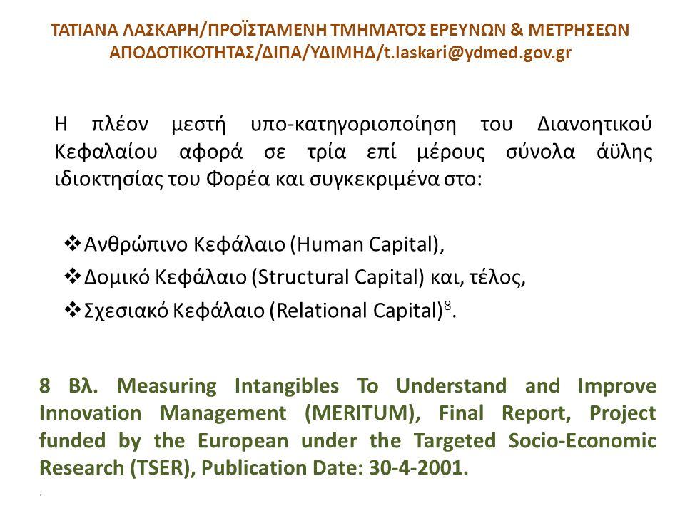 ΤΑΤΙΑΝΑ ΛΑΣΚΑΡΗ/ΠΡΟΪΣΤΑΜΕΝΗ ΤΜΗΜΑΤΟΣ ΕΡΕΥΝΩΝ & ΜΕΤΡΗΣΕΩΝ ΑΠΟΔΟΤΙΚΟΤΗΤΑΣ/ΔΙΠΑ/ΥΔΙΜΗΔ/t.laskari@ydmed.gov.gr Η πλέον μεστή υπο-κατηγοριοποίηση του Διανο