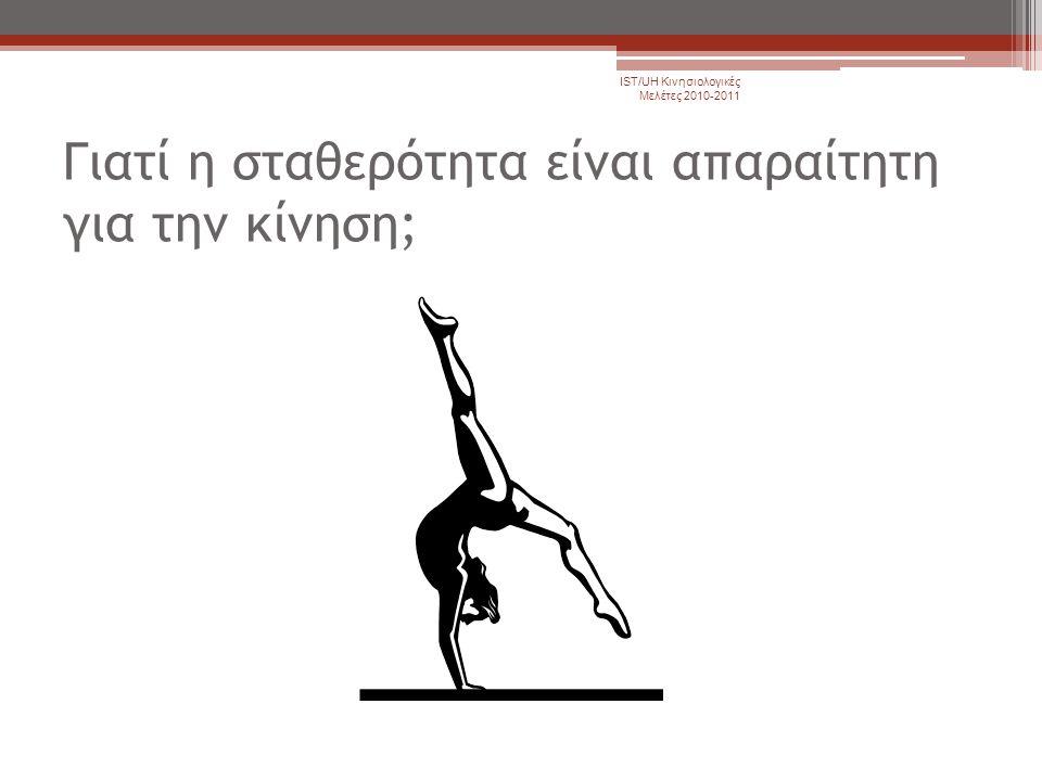 Γιατί η σταθερότητα είναι απαραίτητη για την κίνηση; IST/UH Κινησιολογικές Μελέτες 2010-2011