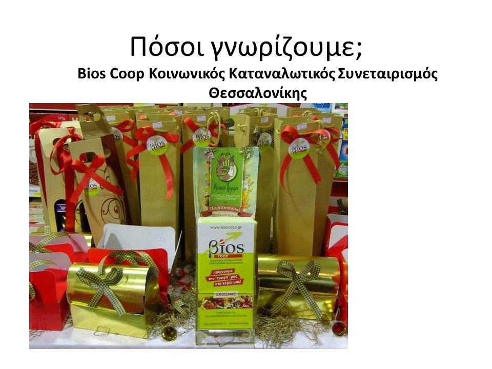 Πόσοι γνωρίζουμε; Bios Coop Κοινωνικός Καταναλωτικός Συνεταιρισμός Θεσσαλονίκης