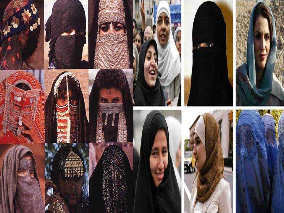 Το HIYAB: Είναι χαρακτηριστικό πέπλο για αραβικές γυναίκες. Αφήνει το πρόσωπο ελεύθερο, και πολλές γυναίκες το φορούν ως ένδειξη ταυτότητας. Η BURKA: