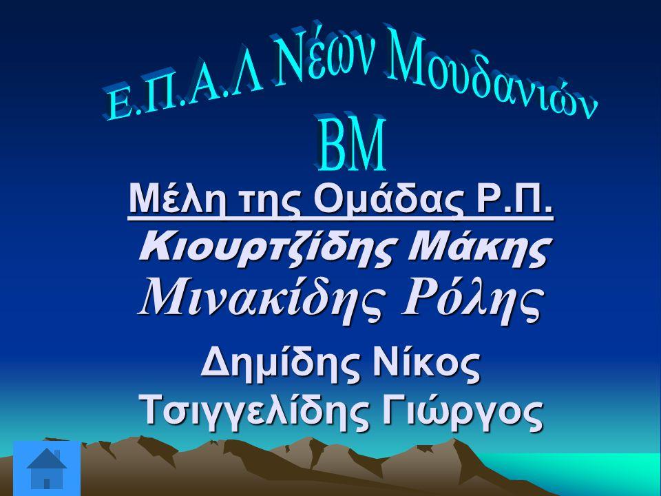 Μέλη της Ομάδας Ρ.Π. Κιουρτζίδης Μάκης Μινακίδης Ρόλης Δημίδης Νίκος Τσιγγελίδης Γιώργος