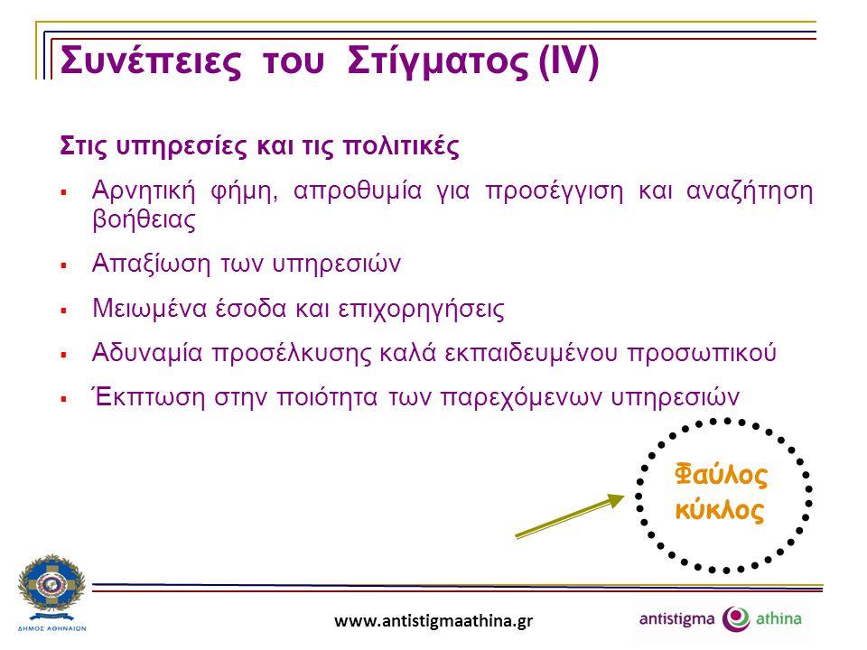 www.antistigmaathina.gr Τι μπορεί να γίνει για τη μείωση του στίγματος και των διακρίσεων;