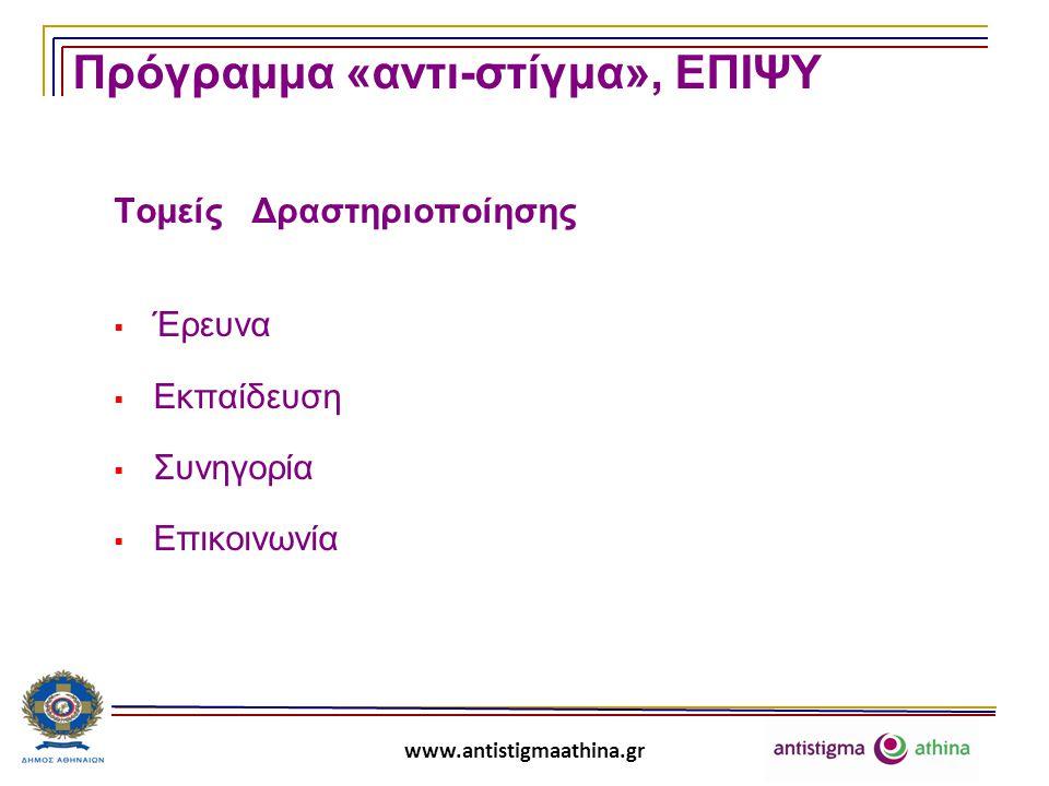 www.antistigmaathina.gr Α: Έρευνα