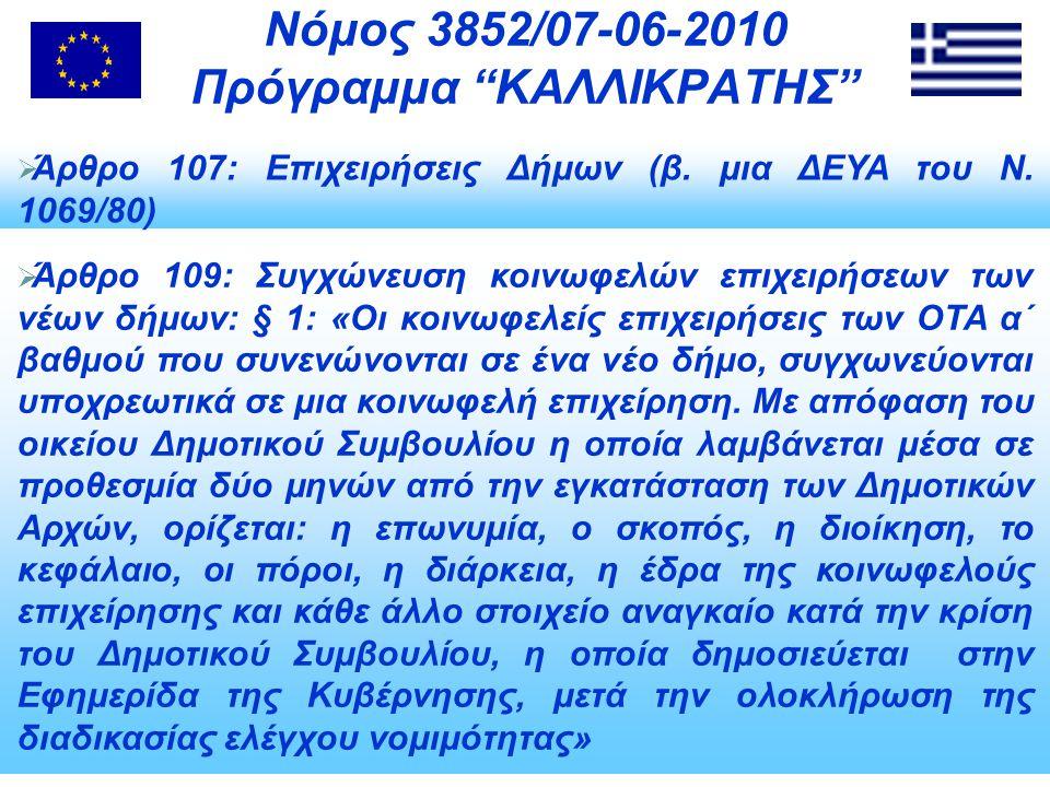  Άρθρο 107: Επιχειρήσεις Δήμων (β.μια ΔΕΥΑ του Ν.