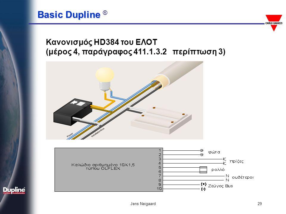 Basic Dupline Basic Dupline ® Jens Neigaard29 Κανονισμός HD384 του ΕΛΟΤ (μέρος 4, παράγραφος 411.1.3.2 περίπτωση 3)