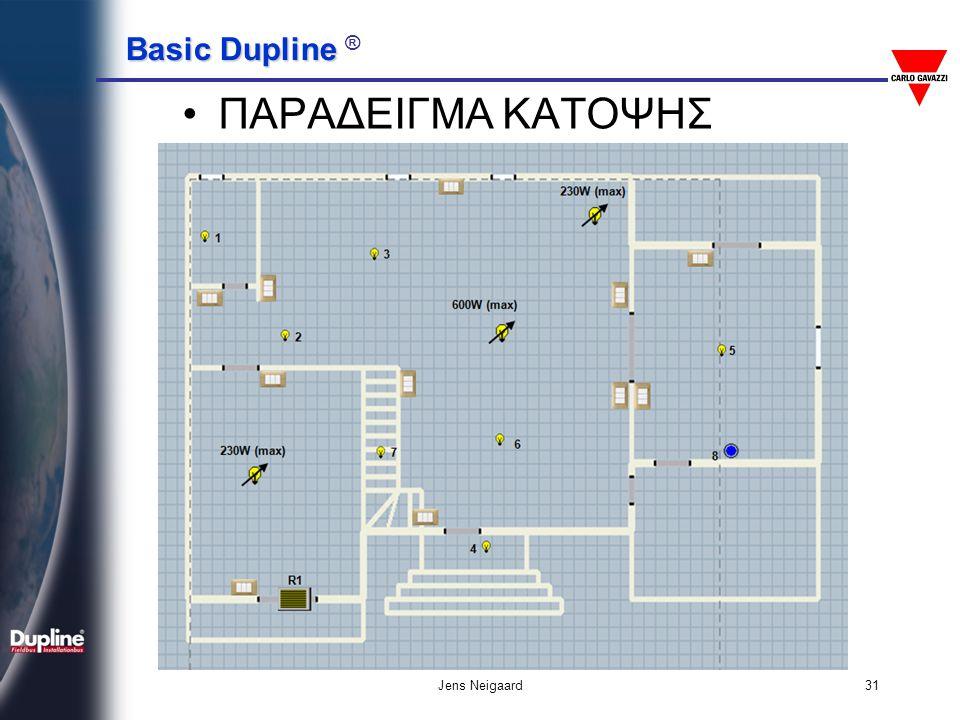 Basic Dupline Basic Dupline ® Jens Neigaard31 •ΠΑΡΑΔΕΙΓΜΑ ΚΑΤΟΨΗΣ