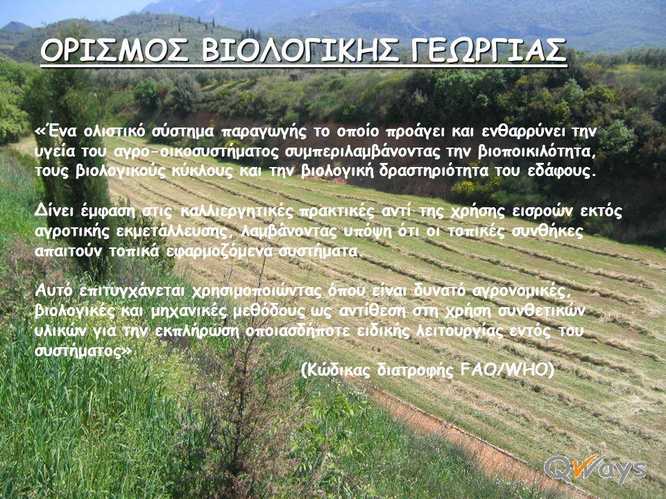 • ΠΟΠ (Προστατευμένη Ονομασία Προέλευσης), • ΠΓΕ (Προστατευμένη Γεωγραφική Ένδειξη), • ΕΠΠΕ (Ειδικό Παραδοσιακό Προϊόν Εγγυημένο), • Βιολογικά προϊόντ